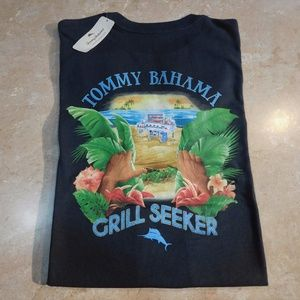 Tommy Bahama Black Grill Seeker BAR-B-QUE Cotton T